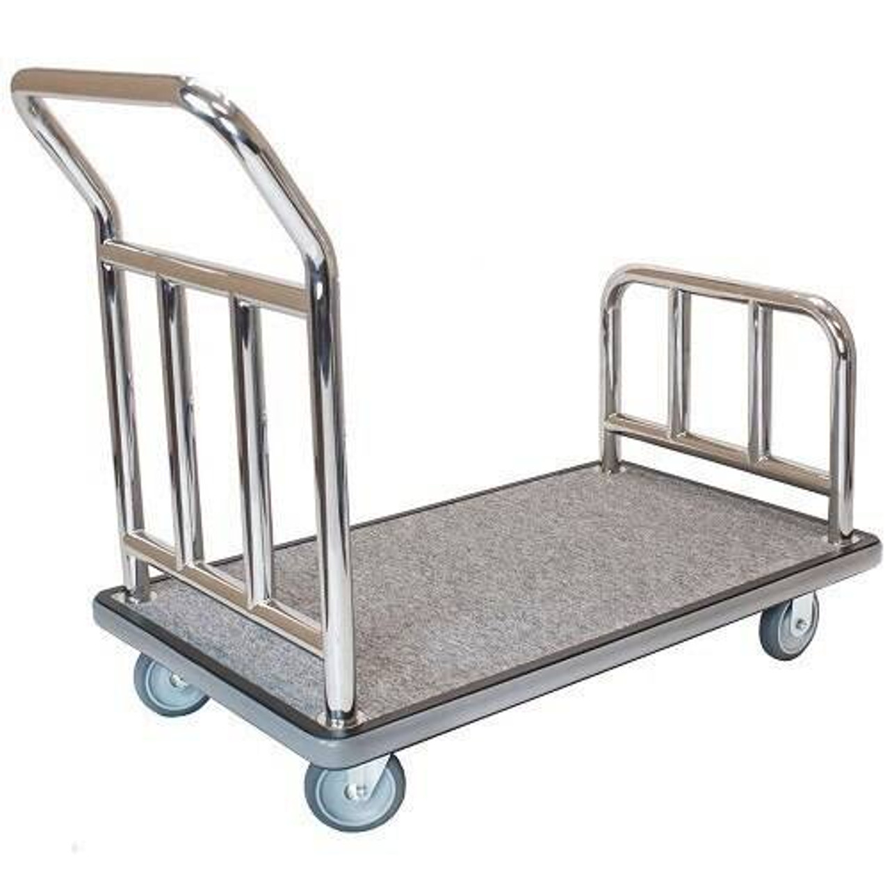 HOSPITALITY 1 SOURCE HOSPITALITY 1 SOURCE or STAINLESS STEEL UTILITY CART or 5 FULLY PNEUMATIC WHEELS