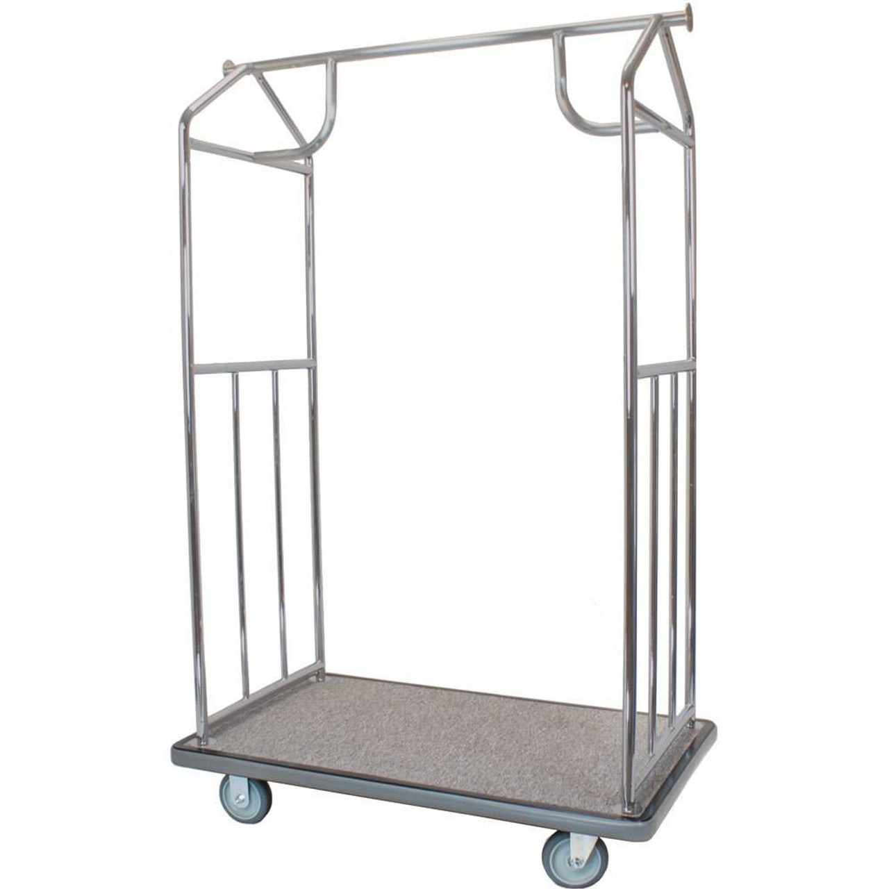 HOSPITALITY 1 SOURCE HOSPITALITY 1 SOURCE or ALL IN ONE BELLMAN CARTS or BRUSHED STAINLESS STEEL