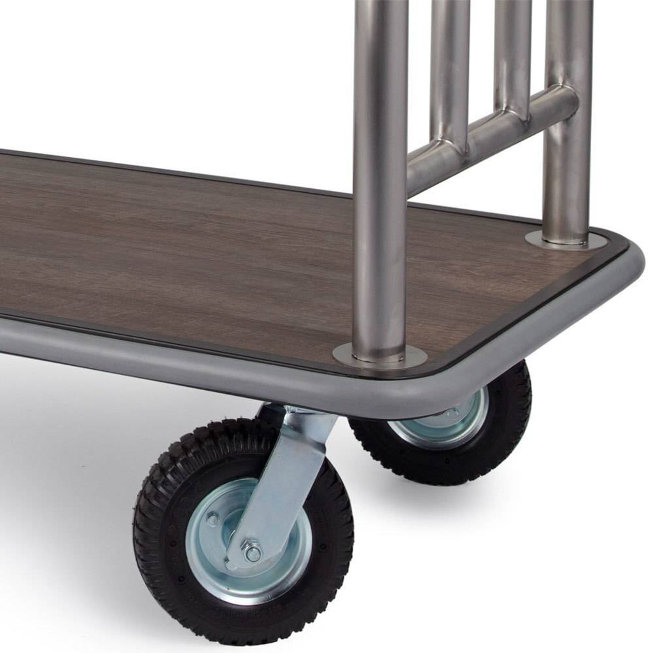 HOSPITALITY 1 SOURCE HOSPITALITY 1 SOURCE or LUGGAGE CARTS or ESTATE SERIES or BRUSHED STAINLESS STEEL or BELLMANS CART