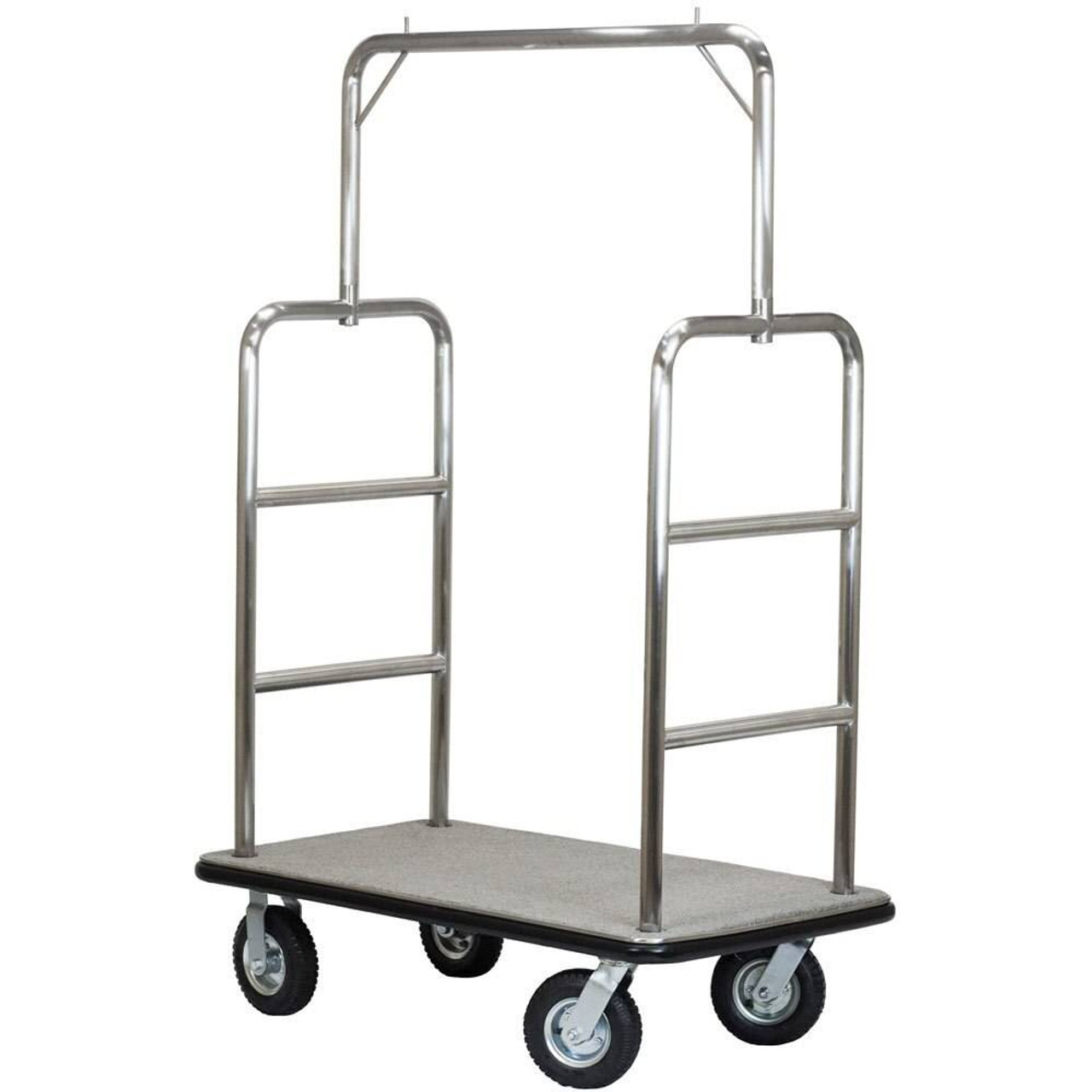 HOSPITALITY 1 SOURCE HOSPITALITY 1 SOURCE or MIDTOWN SERIES or BRUSHED STAINLESS STEEL or BELLMANS CART