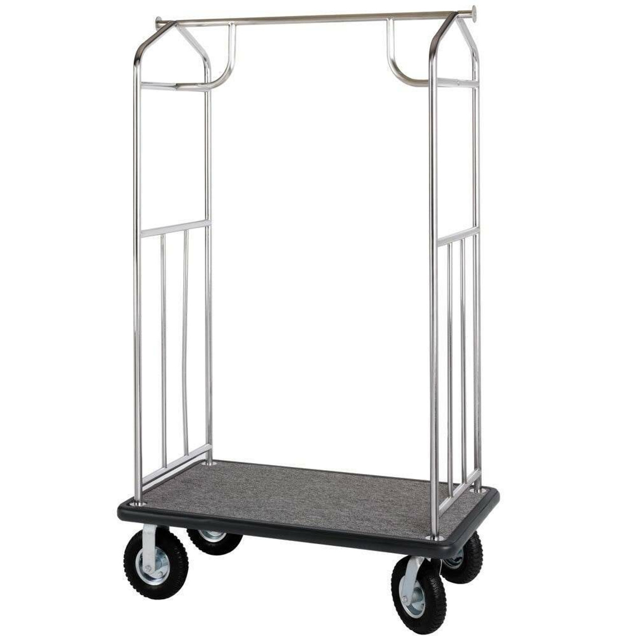 Chrome HOSPITALITY 1 SOURCE BELLMANS CART or TRANSPORTER - ALL STYLES