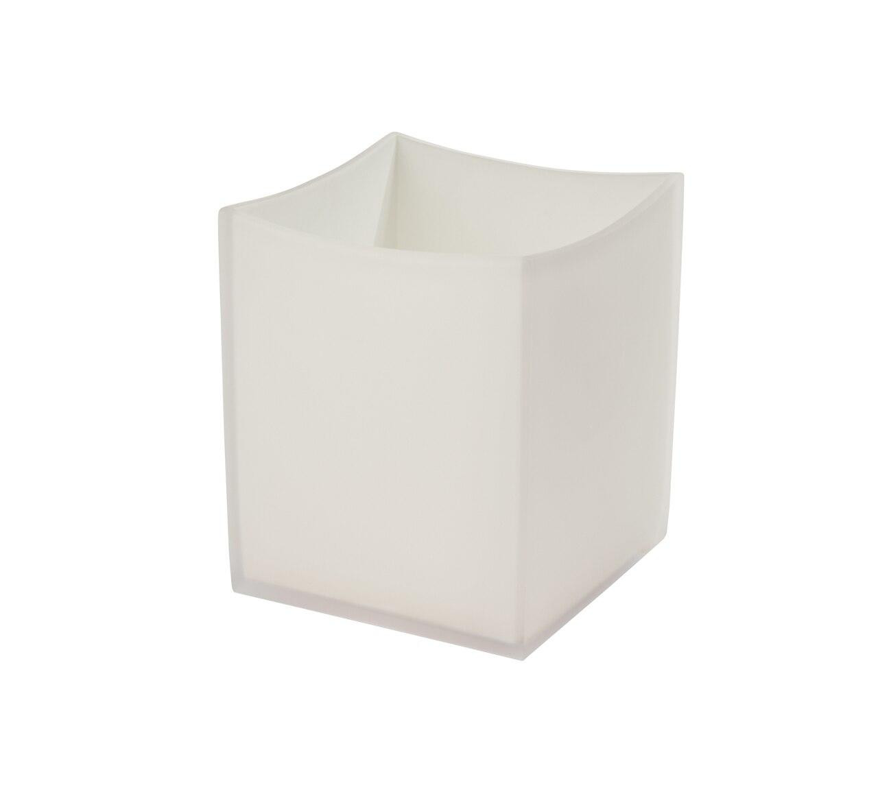 Focus Product Group Solid 4 Piece Modern Frost Bath Accessories Set - White