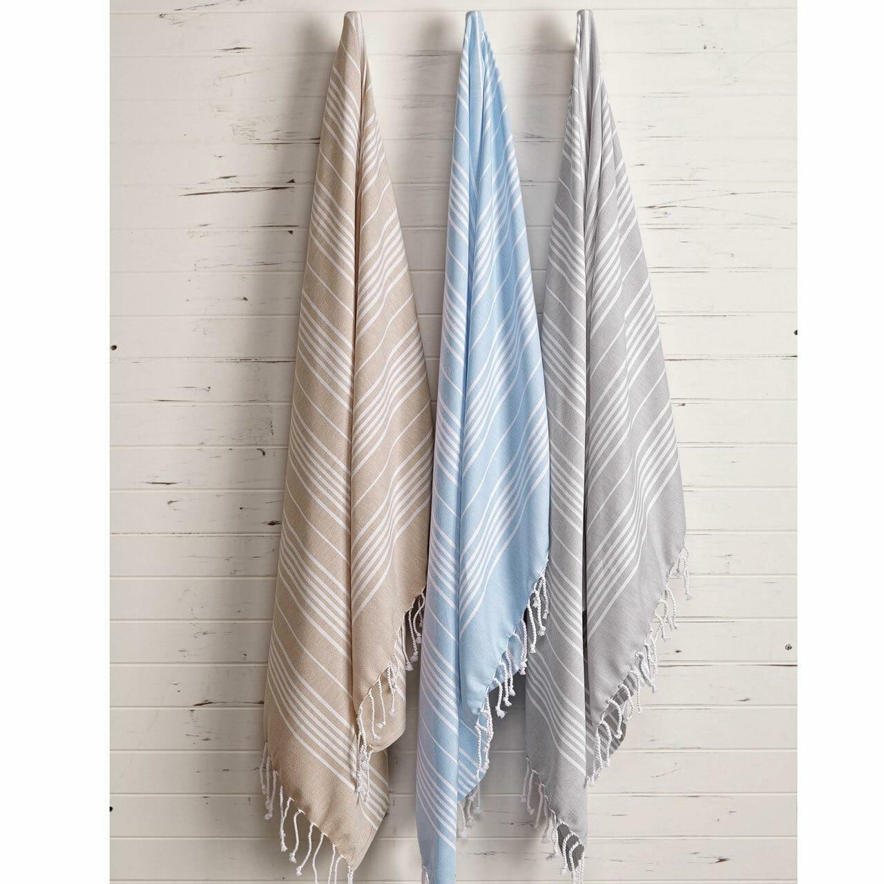1888 Mills 1888 MILLS or WANDER BOHO BLANKETS or BLUE or40X68 or 100percent RING SPUN COMBED COTTON or 1 DZ PER CASE