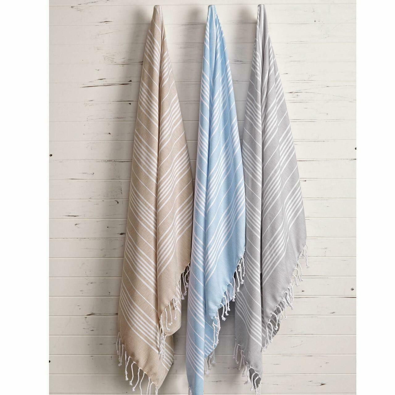 1888 Mills 1888 MILLS or WANDER BOHO BLANKETS or GREY or40X68 or 100percent RING SPUN COMBED COTTON or 1 DZ PER CASE