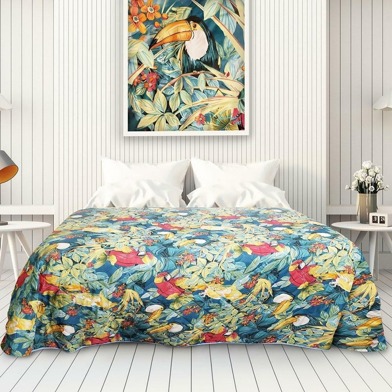 Oxford Super Blend by Ganesh Mills PARADISE TEQUILA SUNRISE PRINTED BEDSPREAD