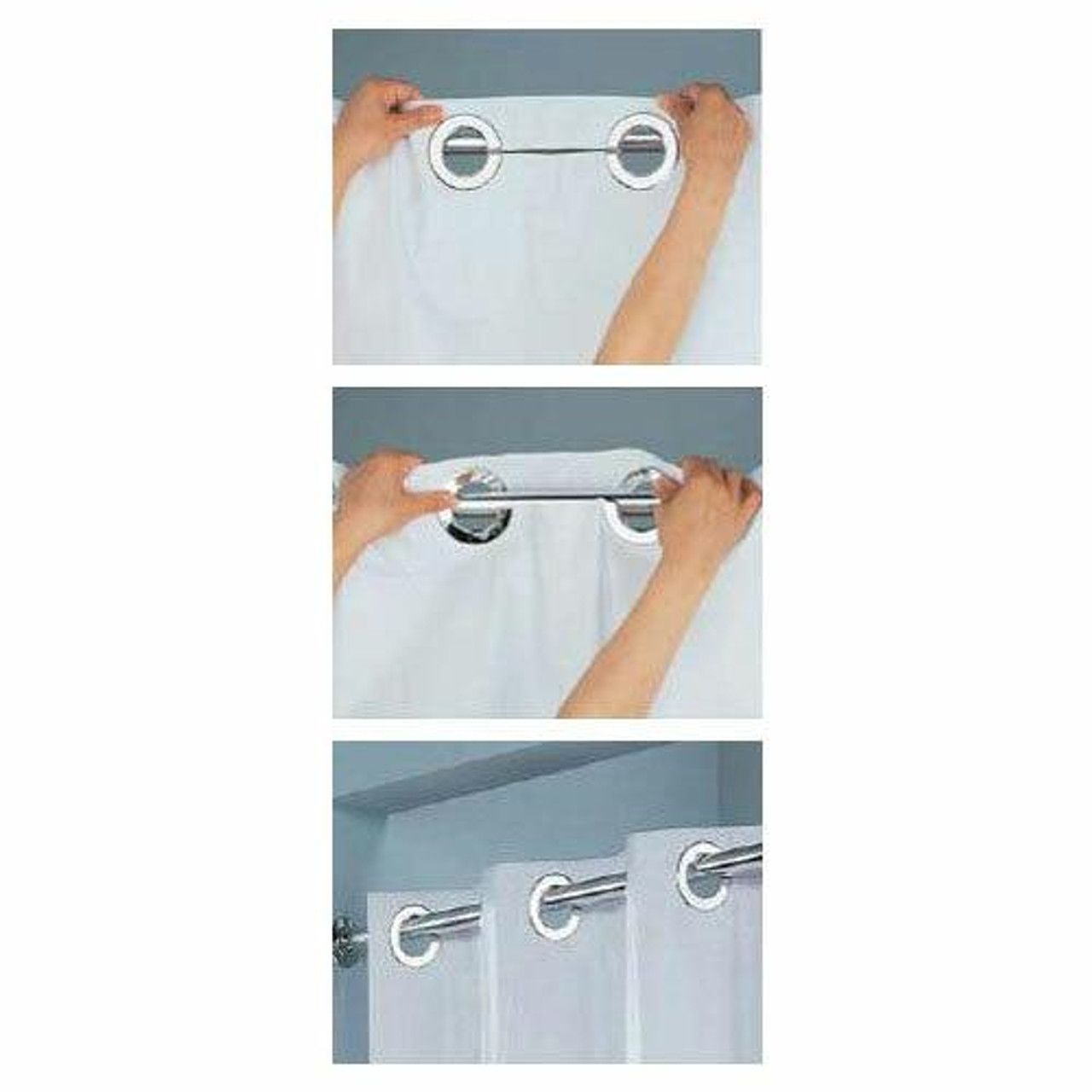 Focus Product Group FOCUS or HOOKLESS or DOUBLE H or POLYESTER SHOWER CURTAIN or REPLACEABLE LINER or 71X74 or WHITE or PACK OF 12