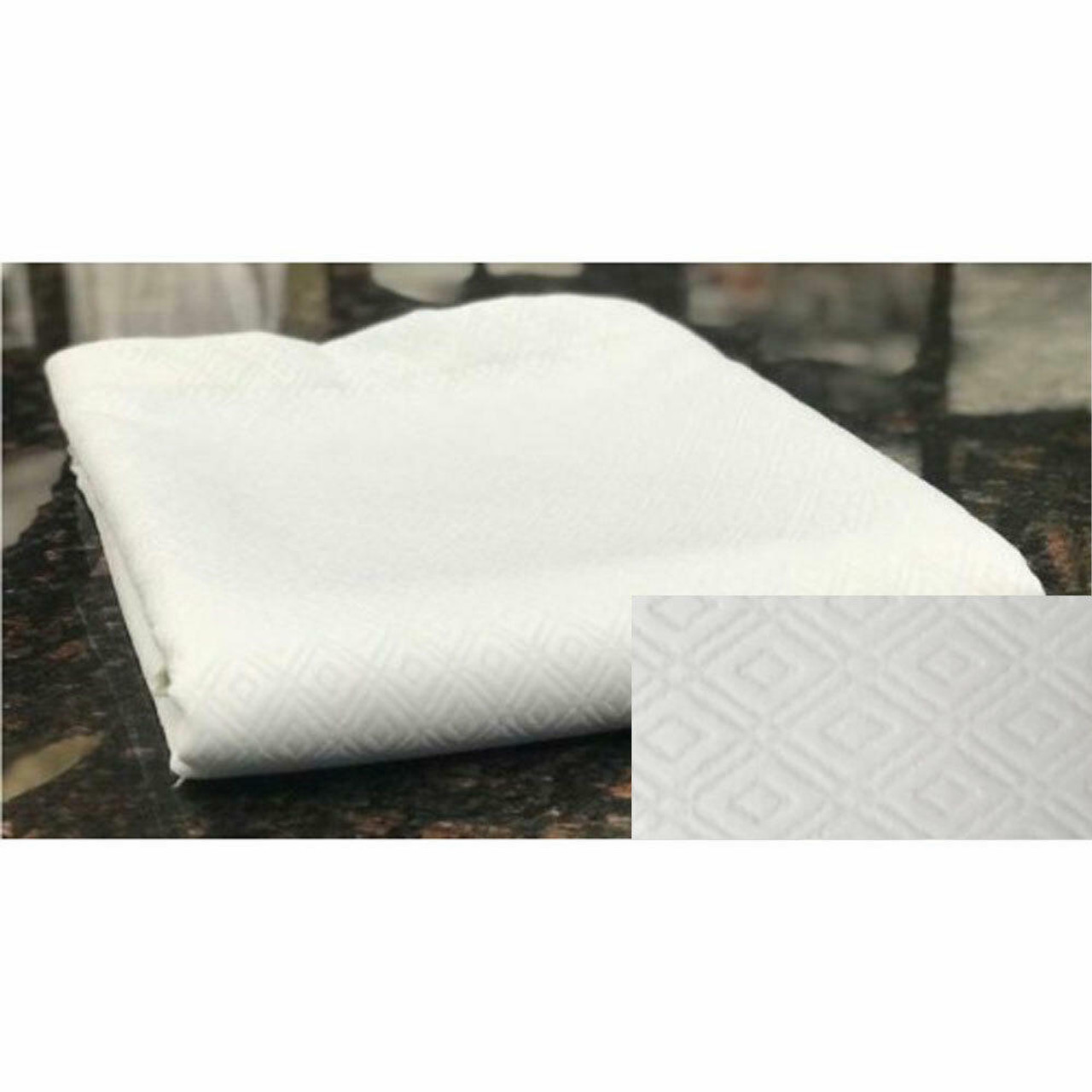Ganesh Mills or Oxford Super Blend GANESH OXFORD or JACQUARD MATELASSE DESIGN or BED TOPPER or TWIN 72X96 or 100percent POLYESTER WHITE