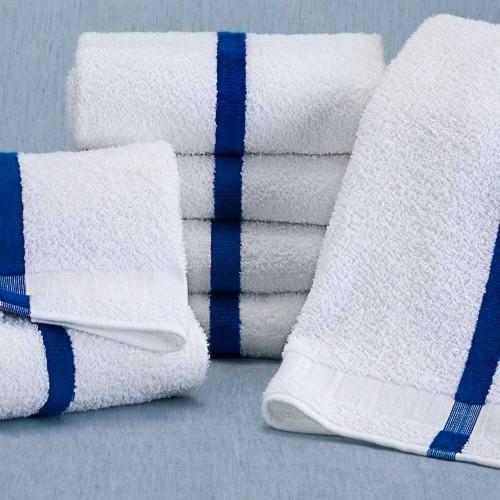 WestPoint/Martex Blue Striped Pool towel from Martex / Westpoint