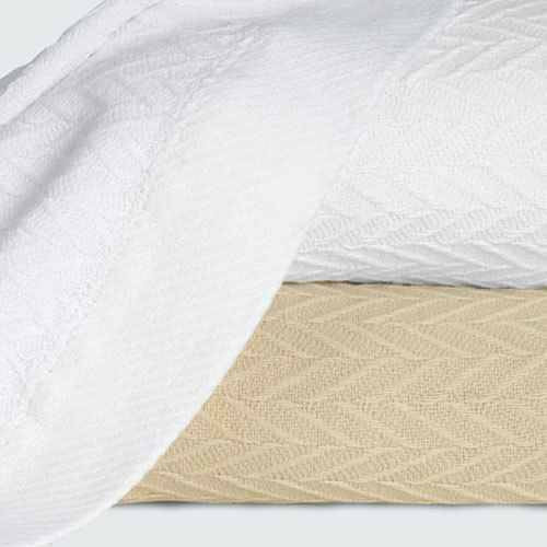 1888 Mills 1888 Mills or Magnificence or Thermal Blanket or Linen Or White or Pack of 2