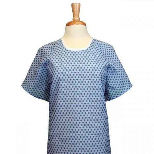 Center Tie Patient Gown or Classic Blue on Blue or 1 DZ