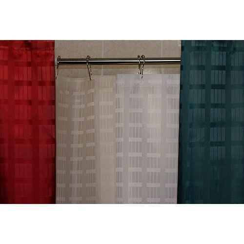 Kartri KARTRIor DYNASTYor POLYESTER SHOWER CURTAIN W/ SEWN EYELETS PACK OF 12