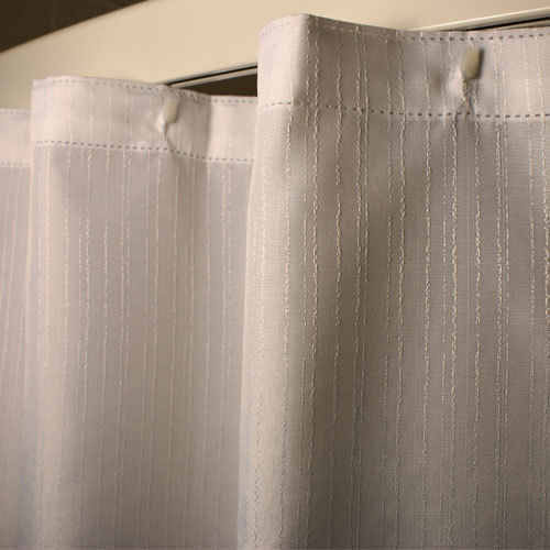 Kartri KARTRIor KAR-RIBor POLYESTER SHOWER CURTAIN W/ SEWN EYELETS PACK OF 12