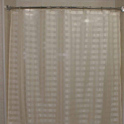 Kartri KARTRIor VISION CHECK SHEERor POLYESTEorR SHOWER CURTAIN W/ SEWN EYELETS 70x72 PACK OF 12