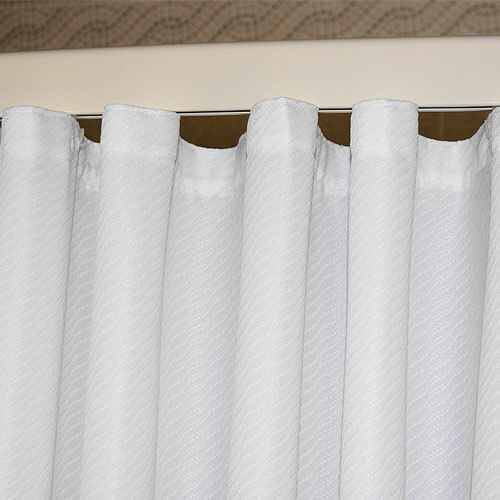 Kartri KARTRIor WILLOWor FLAME RETARDANT POLY/AVORA BLEND SHOWER CURTAIN W/ SEWN EYELETS PACK OF 8