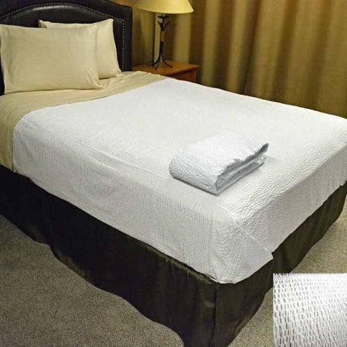 Kartri KARTRIor DECORATIVEor TOP BED SHEETor W/ SQUARE CORNERS TWIN WHITE KAR-RIPPLE PACK OF 12