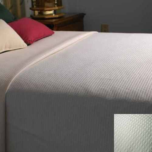 Kartri KARTRIor DECORATIVEor TOP BED SHEETor W/ SQUARE CORNERS TWIN WHITE URBAN WAFFLE PATTERN PACK OF 12
