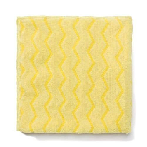 RUBBERMAID COMMERCIAL or HYGEN 16 MICROFIBER BATHROOM CLOTH or YELLOW or PACK OF 12