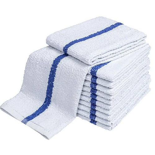 Ganesh Mills or Oxford Super Blend Ganesh Mills or Blue Center Stripe Terry Hand Towel or Pack of 50 DZ