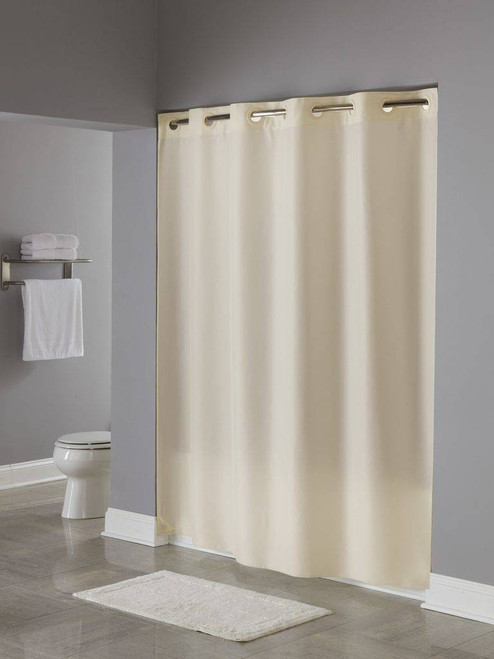Focus Product Group Focus or Hookless Plainweaveor Polyester or Shower Curtain or Pack of 12