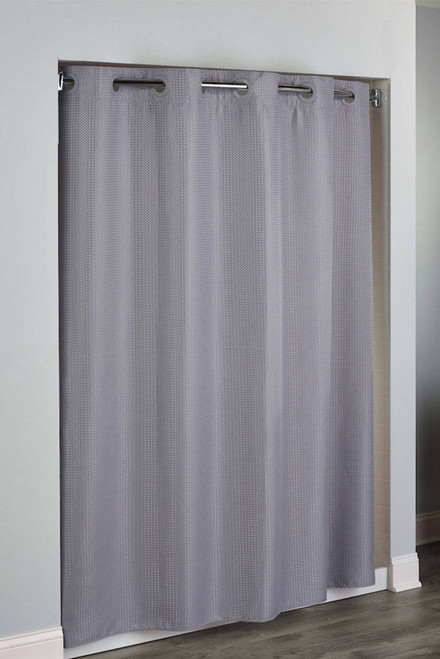 Focus Product Group Hudson by Hookless Shower Curtain or Diamond Weave Polyester or 71x77 or Pack of 12