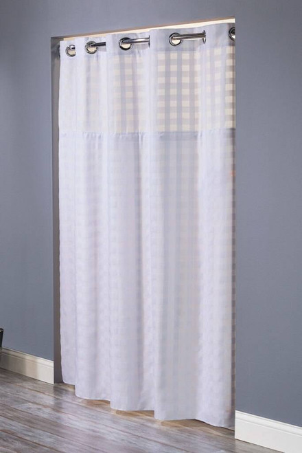 Focus Product Group Shimmy Square or Hookless Shower Curtain or 71x77in or Pack of 12