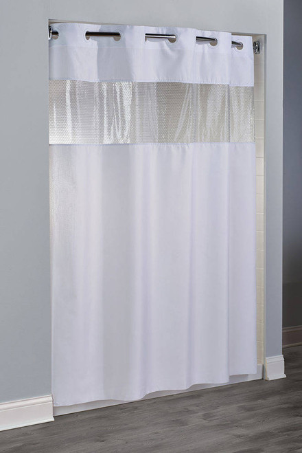 Focus Product Group The Major or Hookless or Polyester or Shower Curtain or Pack of 12