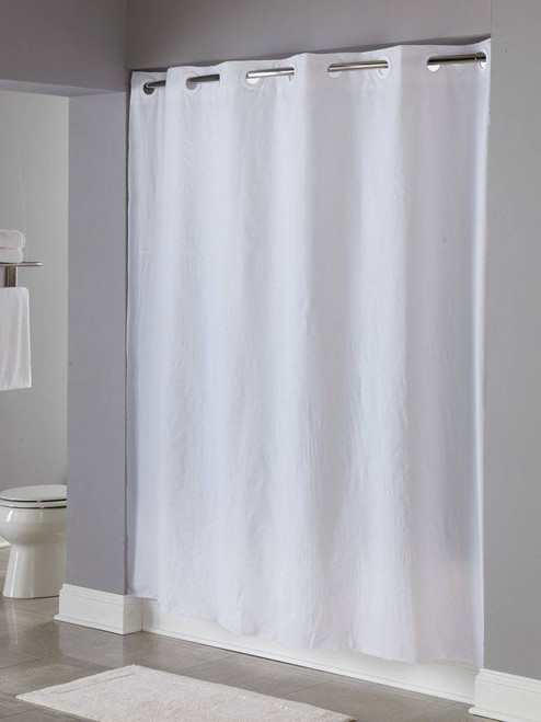 Focus Product Group 8 Gauge Pin Dotor Hookless or Polyester or Shower Curtain or Pack of 12