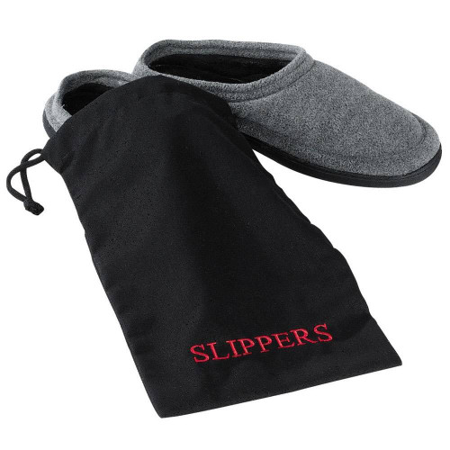 HOSPITALITY 1 SOURCE AMENITY BAGS or HOSPITALITY 1 SOURCE or SLIPPER BAG or BLACK/RED EMBROIDERY