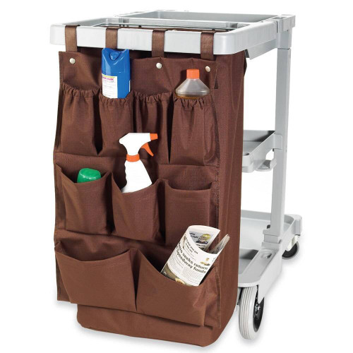 HOSPITALITY 1 SOURCE HOSPITALITY 1 SOURCE or 9 POCKET or X DUTY HOUSEKEEPING or CADDY BAGS or 19x32 or BROWN or 5 PER CASE