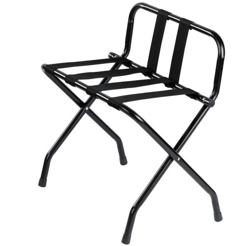 HOSPITALITY 1 SOURCE HOSPITALITY 1 SOURCE or POWDER COAT LUGGAGE RACK or BACK and BLACK STRAPS or BLACK FINISH or 4 PER CASE