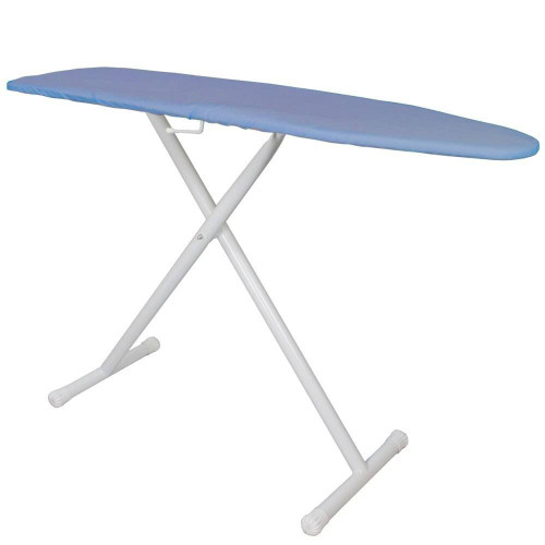HOSPITALITY 1 SOURCE HOSPITALITY 1 SOURCE or PREMIUM IRONING BOARD or BLUE COVER or 53LX13.5W or POWDER COAT WHITE LEGS FINISH or 4 PER CASE