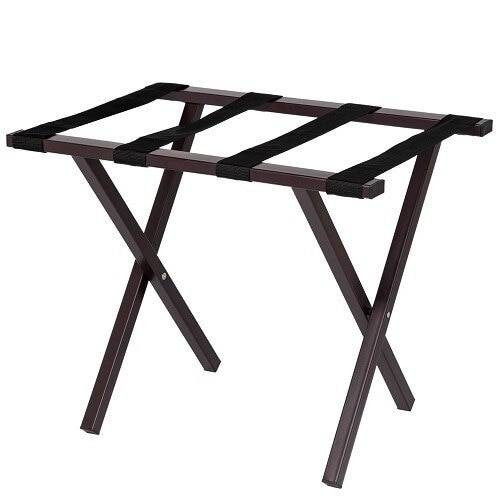 HOSPITALITY 1 SOURCE HOSPITALITY 1 SOURCE or METROPOLITAN POWDER COAT LUGGAGE RACK or BLACK STRAPS or BROWN FINISH or 4 PER CASE