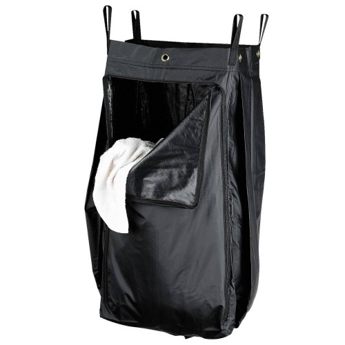 HOSPITALITY 1 SOURCE HOSPITALITY 1 SOURCE or X DUTY PVC LAUNDRY BAG or ZIPPER or LARGE or 18X30X12 or BLACK or 5 PER CASE