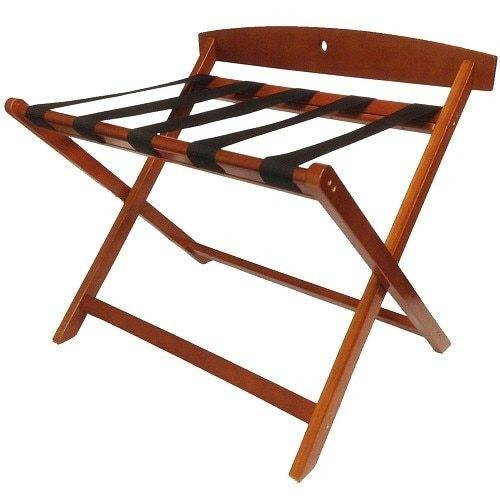 HOSPITALITY 1 SOURCE HOSPITALITY 1 SOURCE or CONTEMPORARY WOODEN LUGGAGE RACK or BACKREST or LIGHT MAHOGANY FINISH or 2 PER CASE