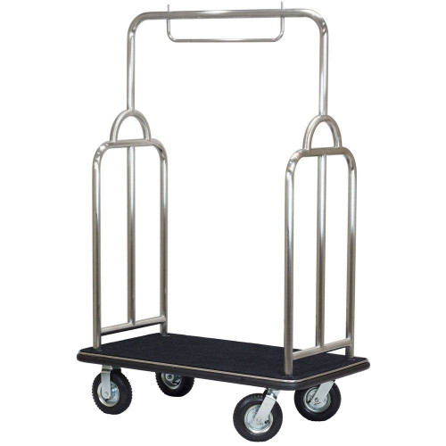 HOSPITALITY 1 SOURCE HOSPITALITY 1 SOURCE or TRIBECA SERIES or BRUSHED STAINLESS STEEL or BELLMANS CART