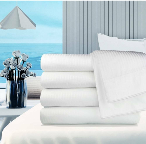 Ganesh Mills or Oxford Super Blend Oxford T250 Satin Bed Sheets by Ganesh Mills - All Sizes and Styles