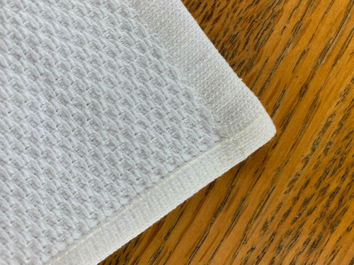 1888 Mills OSHIBORI /WASHCLOTH or 12X12 or 100percent COTTON PIQUE WEAVE or WHITE .9LBS/DZ or 25 DZ PER CASE