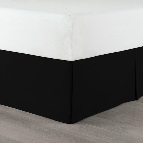 Martex Basics Bedskirts and Box Spring Wraps Black or White Colors