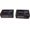 Gens ace 5700mAh 7.4V 50C 2S3P HardCase Lipo Battery Pack 12# with 4.0mm bullet to Deans Plug