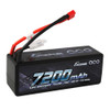 Gens ace 7200mAh 14.8V 70C 4S1P HardCase Lipo Battery 14# with Deans Plug