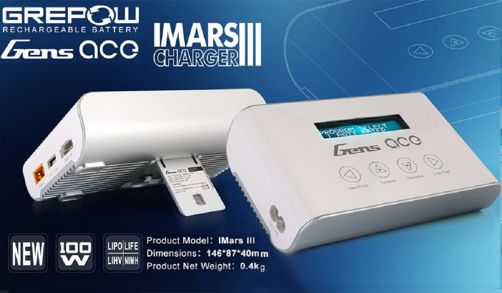 The Portable Lightweight RC / FPV  Battery Charger - GENS ACE IMARS 3