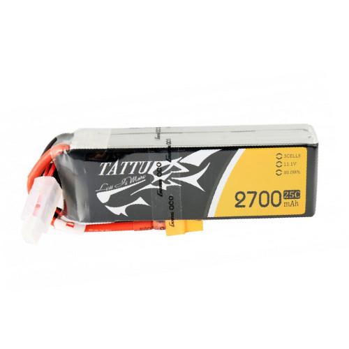 Tattu 2700mAh 3S1P 25C 11.1V Lipo Battery Pack with XT60 Plug Product