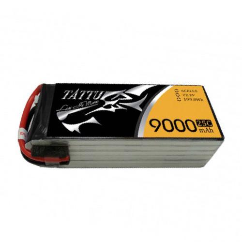 Tattu 9000mAh 22.2V 6S1P 25C Lipo Battery Pack with NA Plug Product