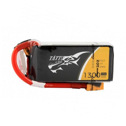 Tattu 1300mAh 3S 75C Lipo Battery Pack with XT60 Plug