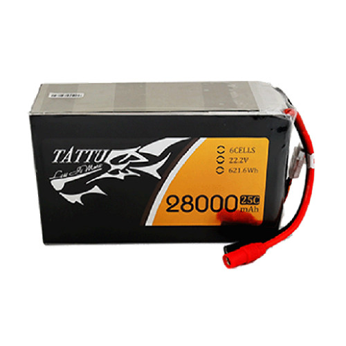 Tattu 28000mAh 22.2V 25C 6S1P Lipo Battery Pack with AS150 +XT150 Plug