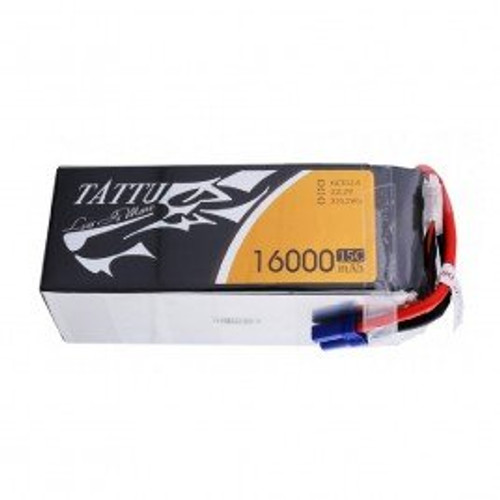 Tattu 15C 22.2V 6S 16000mAh Lipo Battery Pack with EC5 Plug