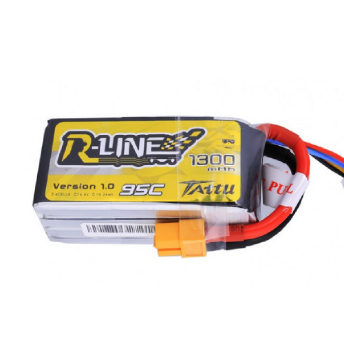 Tattu R-Line 1300mah 4s 95c Lipo Battery Pack with XT60 Plug