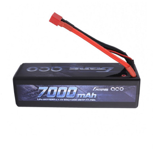 Gens ace 7000mAh 11.1V 60C 3S1P HardCase Lipo Battery Pack 13# with Deans Plug