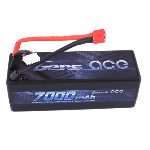 Gens ace 7000mAh 14.8V 60C 4S1P HardCase Lipo Battery 14# with Deans Plug for RC Car