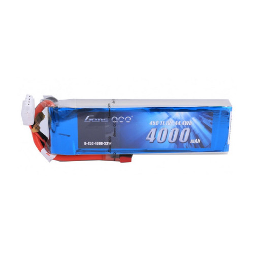 Gens ace 4000mAh 11.1V 45C 3S1P Lipo Battery Pack with Deans Plug for UAV